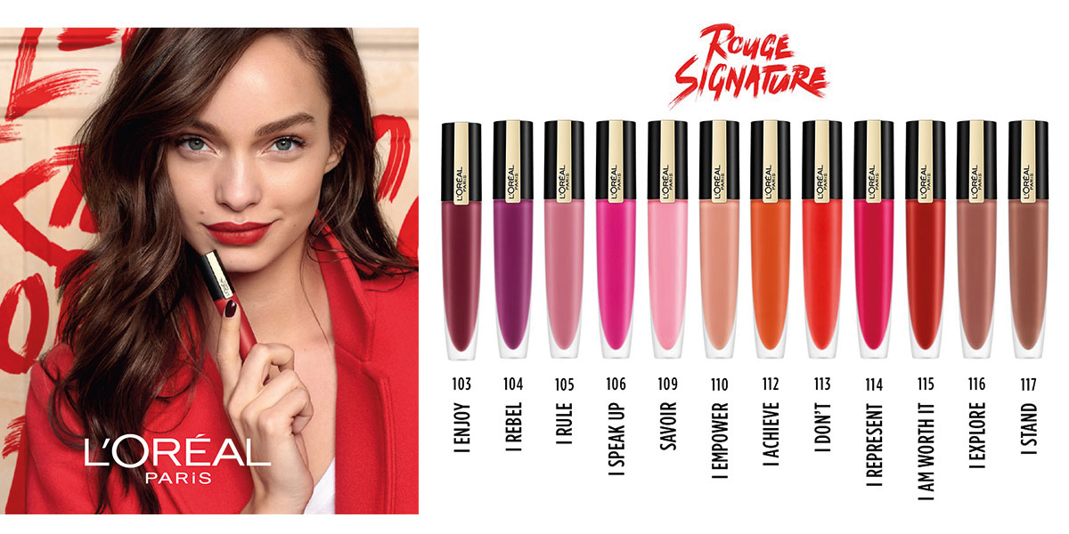 Rouge Signature Ink-Lippenstifte von L´Oréal Paris
