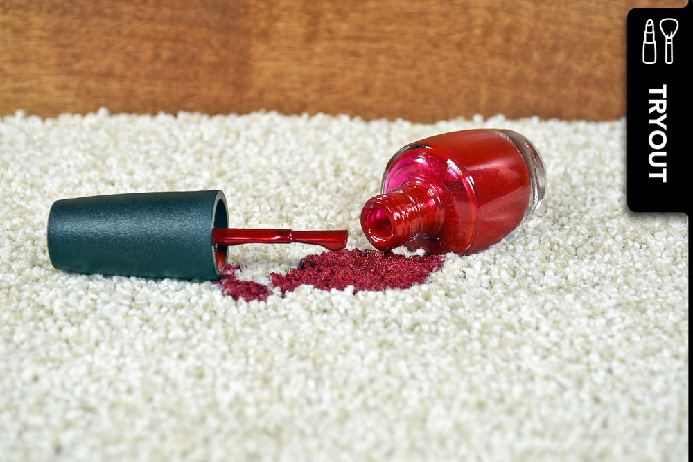 Nagellackfleck aus Teppich entfernen: Ich habe die besten Tipps getestet