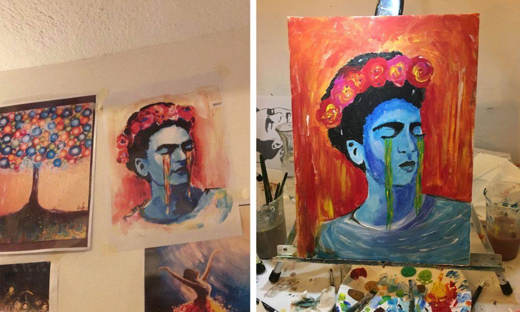 Art Night: weinende Frida Kahlo