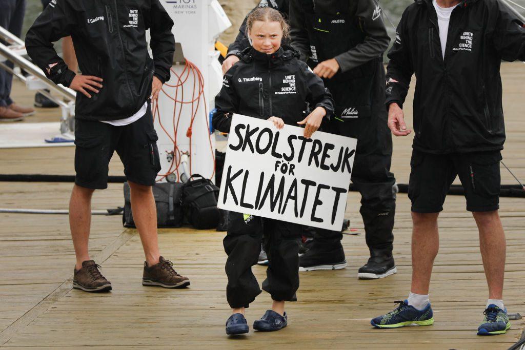 Greta Thunberg kommt nach 15 Tagen auf See in New York an