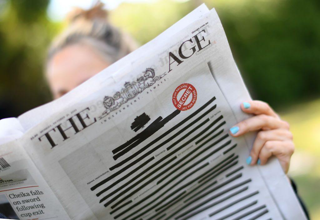 Geschwärzte Titelseiten: Australiens Zeitungen wollen mehr Pressefreiheit