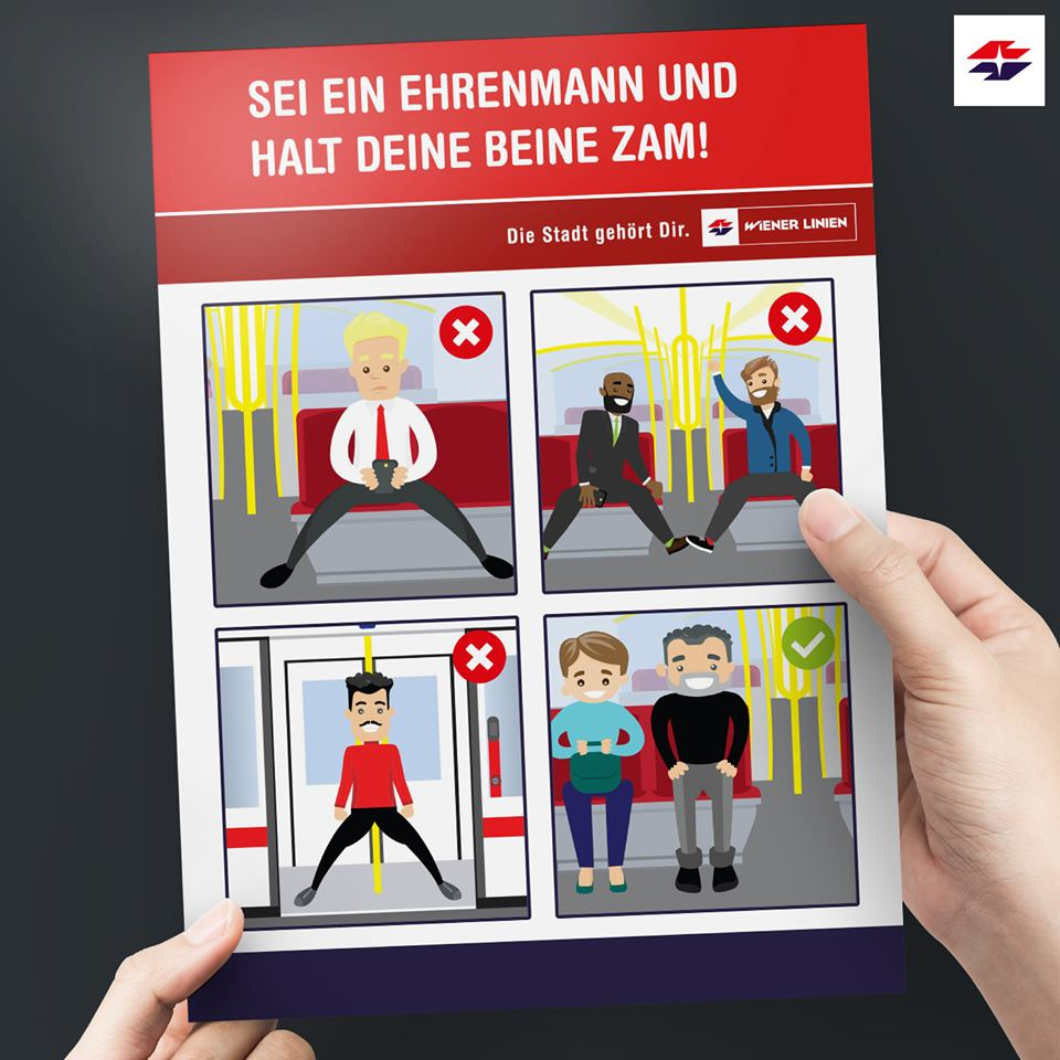 Wiener Linien: Kampagne gegen Manspreading