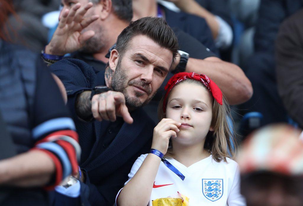 David Beckham küsst Tochter Harper auf den Mund: Shitstorm