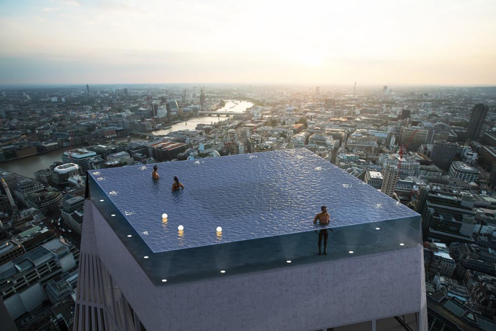 London: Weltweit erster Infinity-Pool auf Wolkenkratzer mit 360-Grad-Blick