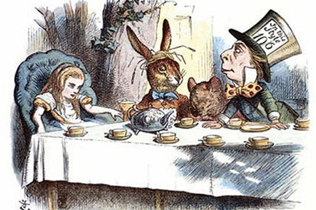 """Google Doodle heute zum """"Alice""""-Zeichner John Tenniel"""