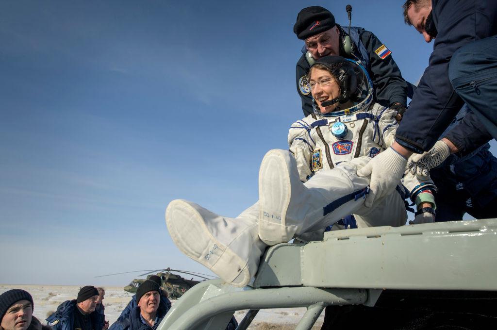 Diese Astronautin schließt ihre ISS-Mission mit einem Rekord ab
