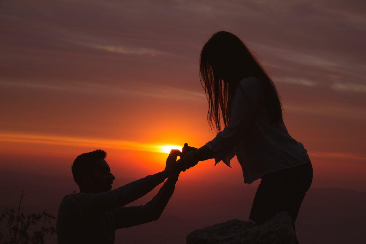 Diesen Heiratsantrag kannst du sogar aus dem All sehen