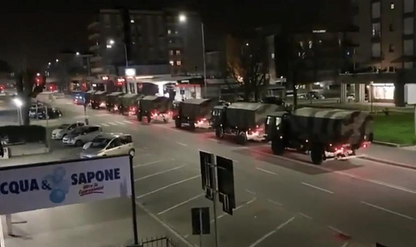 Coronavirus in Italien: Armee-Lastwagen holen Verstorbene aus Bergamo ab