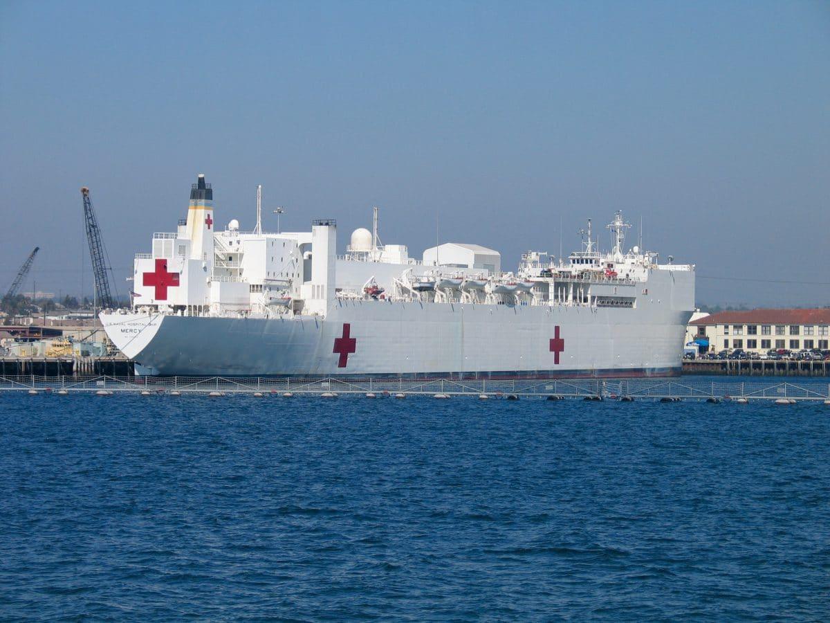 Coronavirus: Rettendes Krankenhausschiff legt in New York an