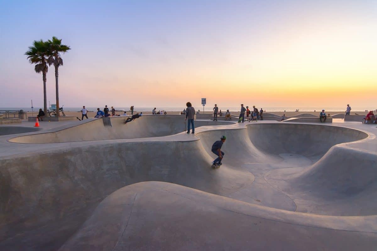 Venice Beach: Skatepark mit Sand zugeschüttet