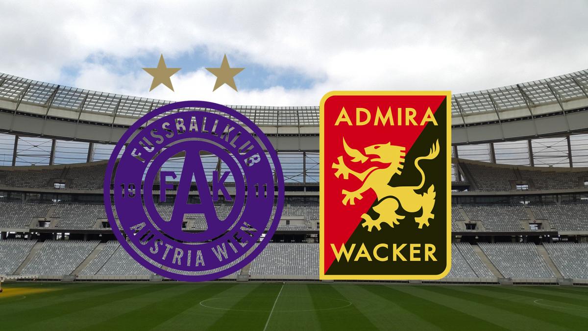 Austria Wien – Admira Wacker: Livestream & live TV-Übertragung