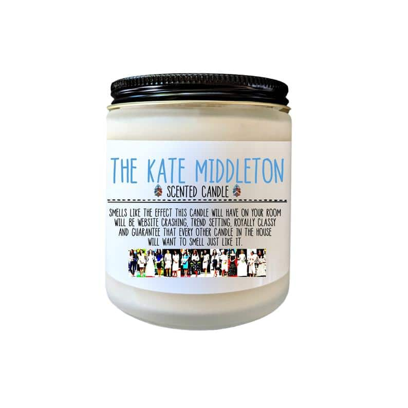 The Kate Middleton Scented Candle / etsy.com