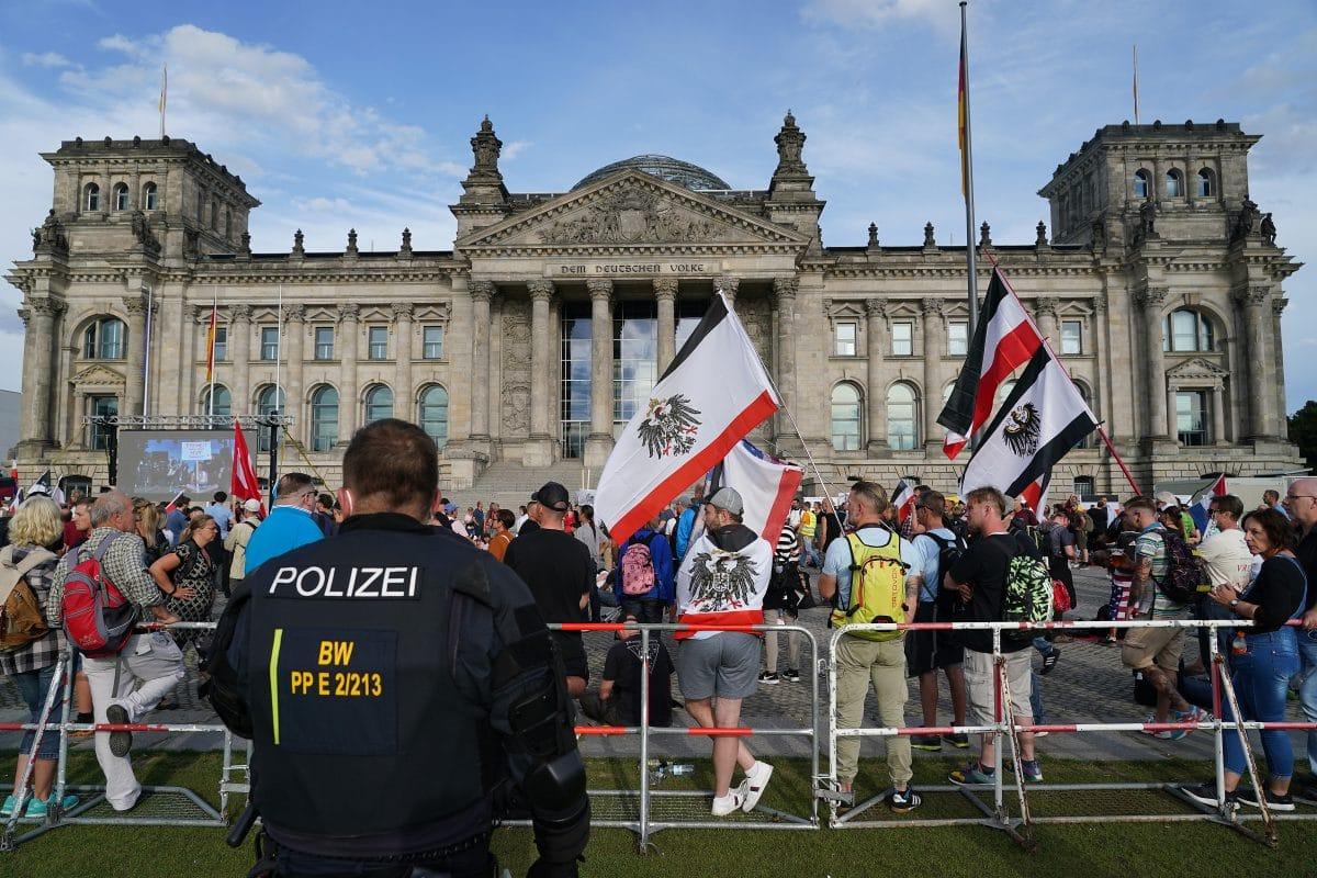 Demonstranten Berlin
