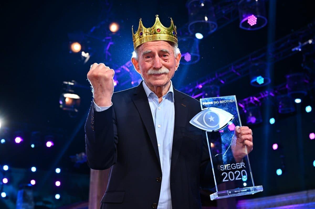 """Werner Hansch gewinnt """"Promi Big Brother 2020"""" und bekommt 100.000 Euro"""