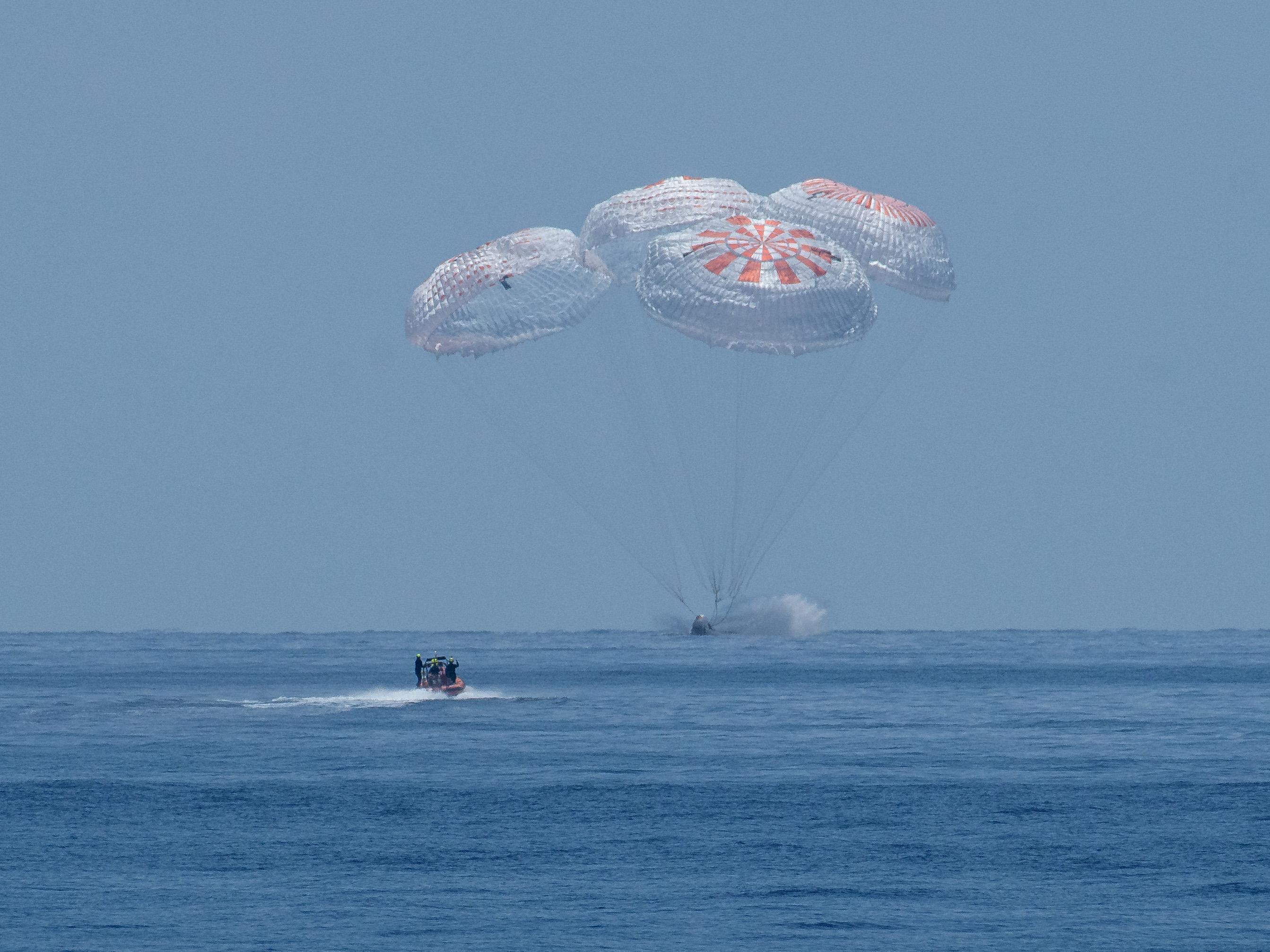 SpaceX-Kapsel: Astronauten wieder auf der Erde gelandet