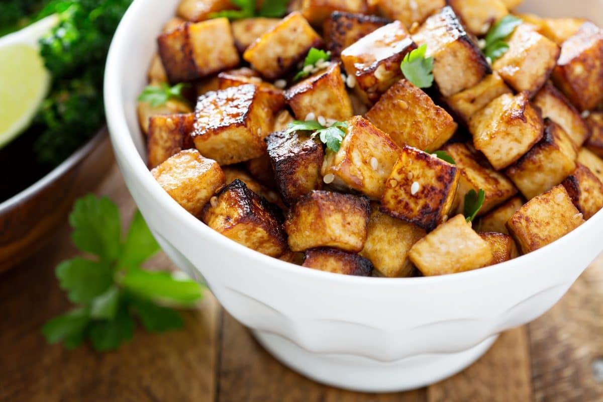 Honig-Sesam-Tofu mit Gemüse: Gesundes Rezept