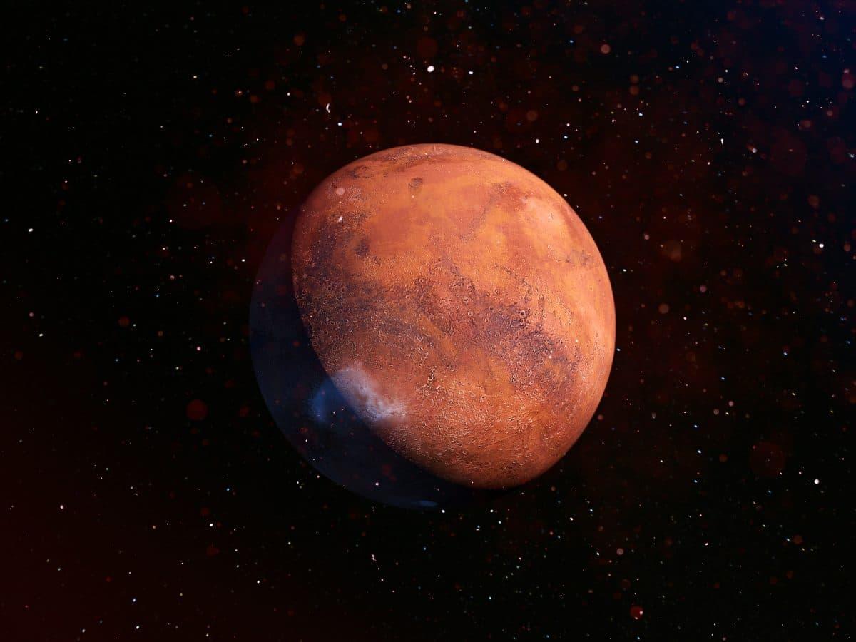 Dieses Video zeigt, wie der Mars rotiert