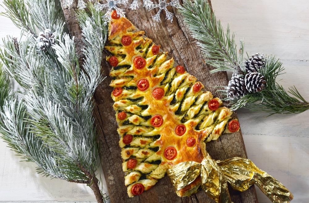 Pesto-Weihnachtsbaum Rezept