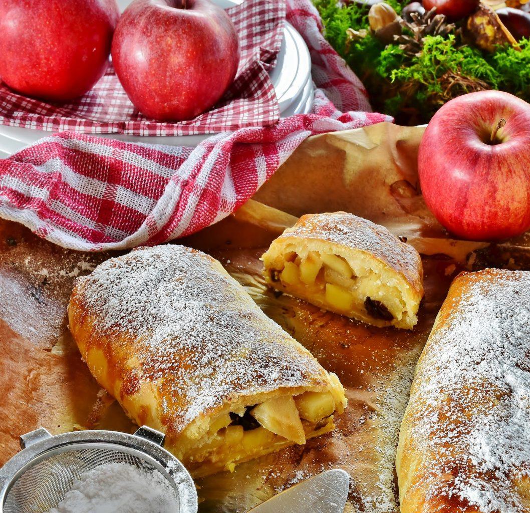 Mürbteig-Apfelstrudel Rezept