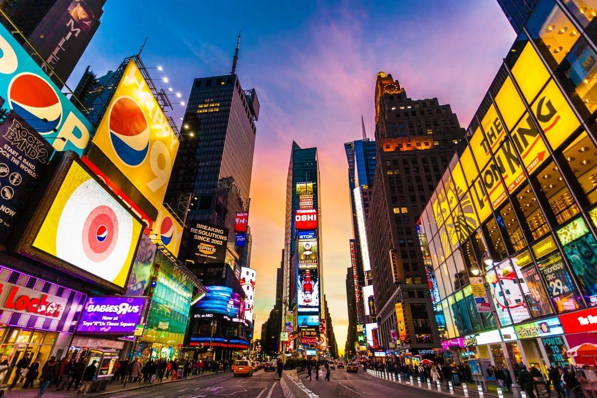 Leer gefegter Times Square: So startete New York ins neue Jahr
