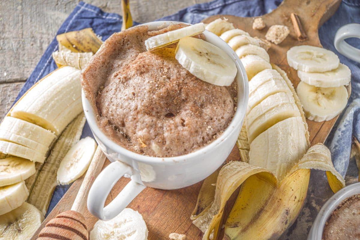Schoko-Bananen-Tassenkuchen
