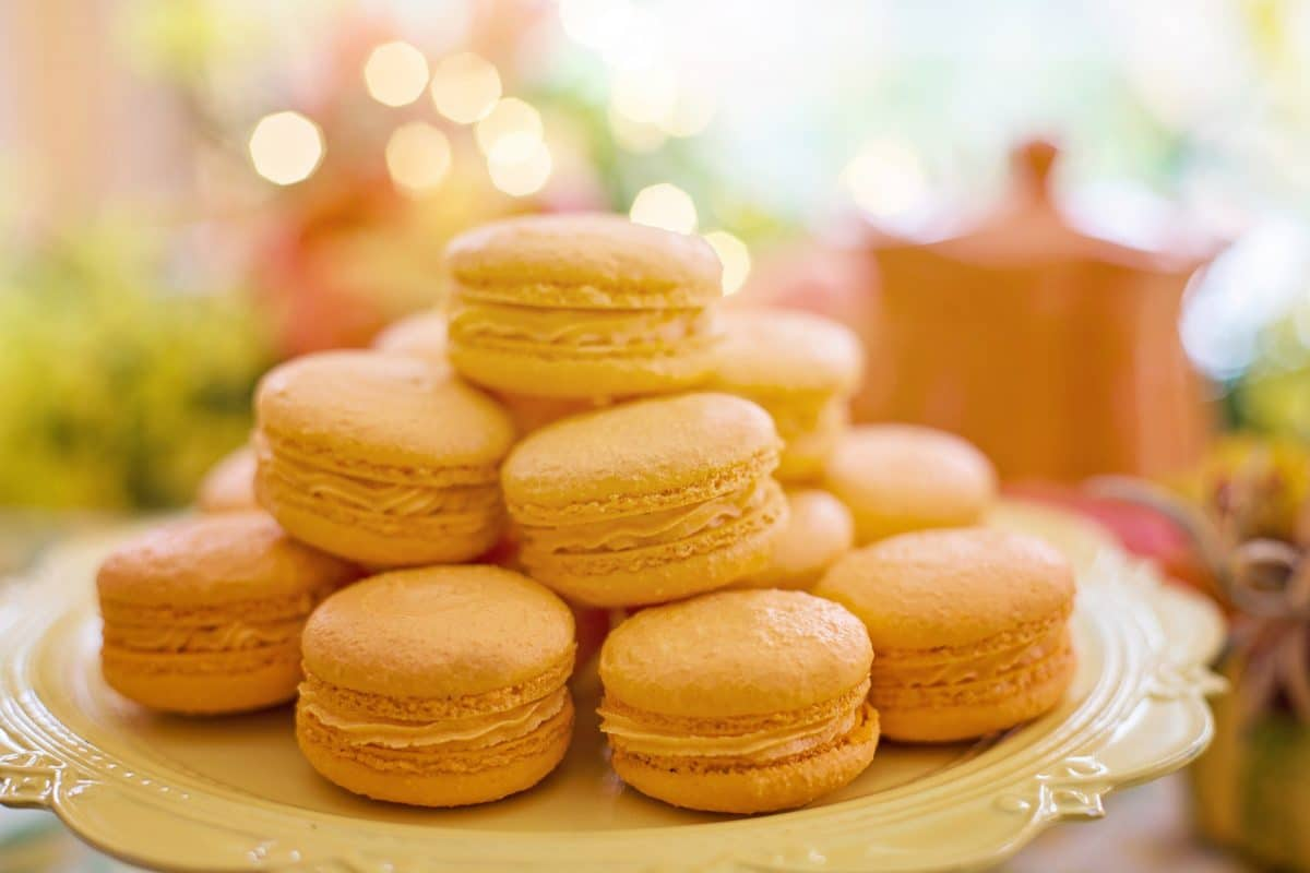 Marillen-Joghurt-Macarons
