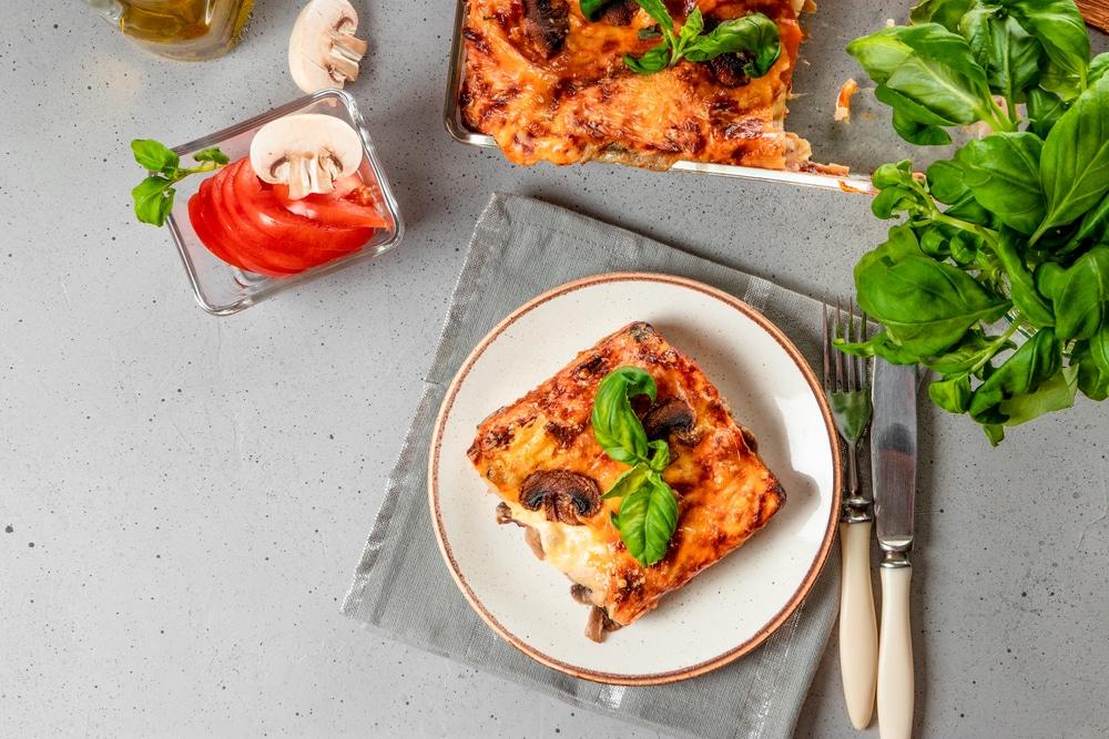 Lasagne mit frischen Pilzen