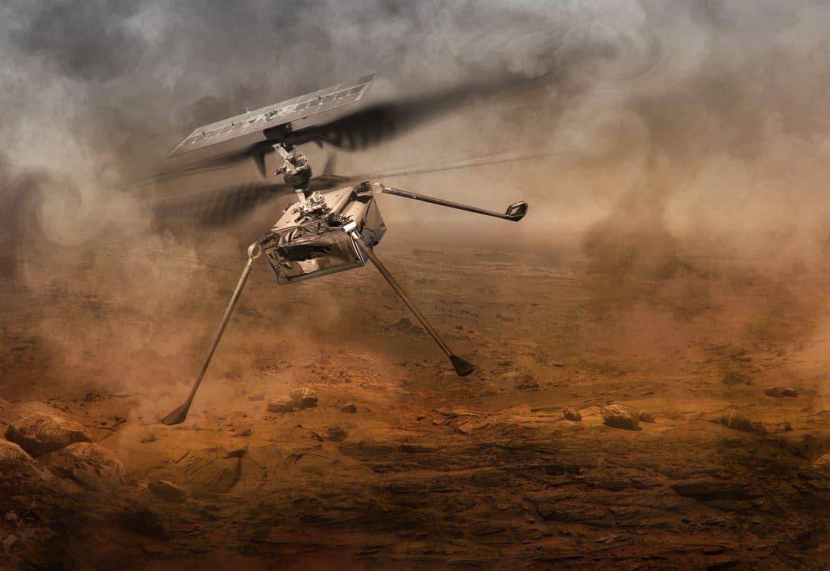 Anfang April könnte der erste Hubschrauber am Mars fliegen