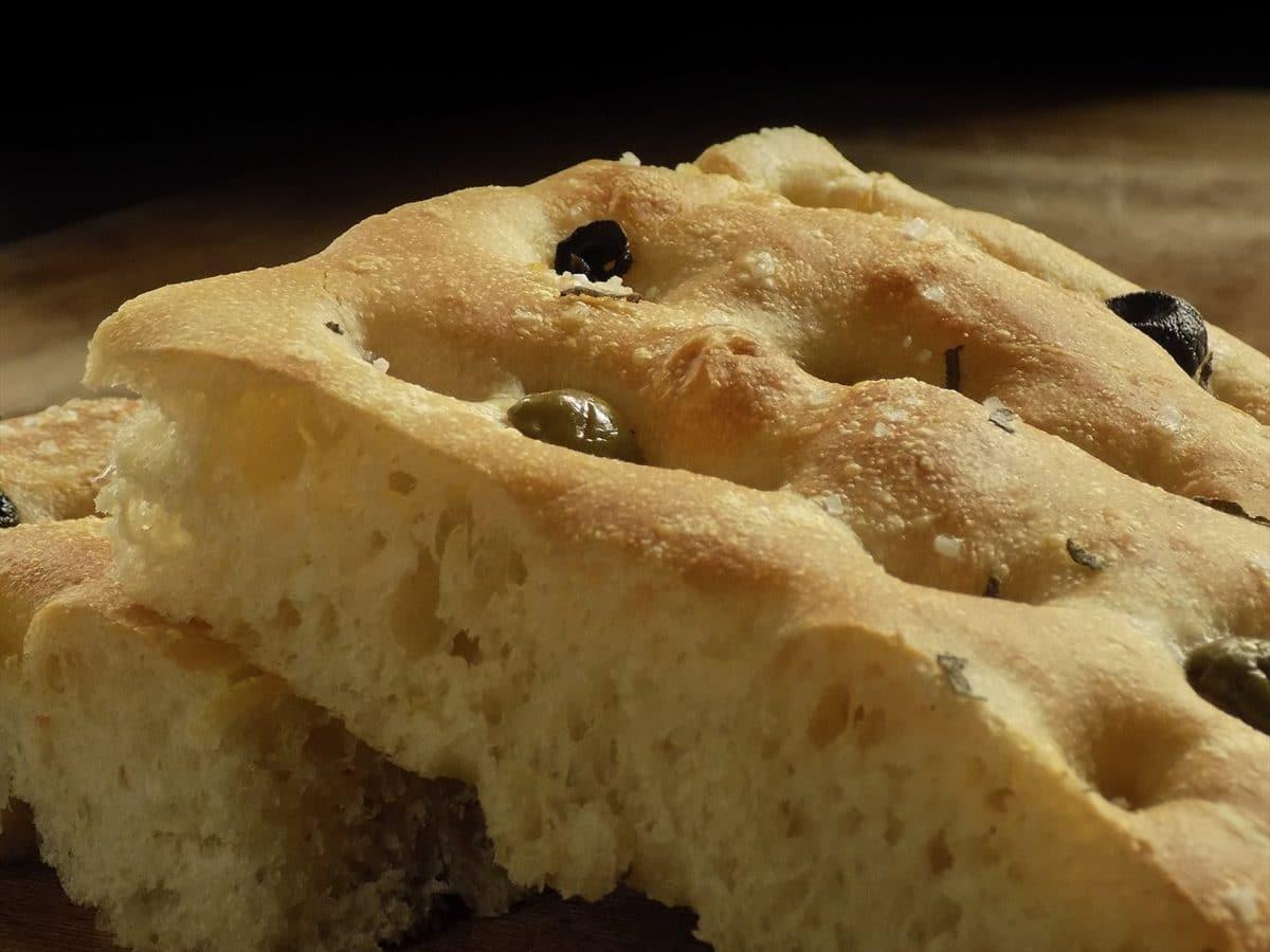 Oliven-Focaccia