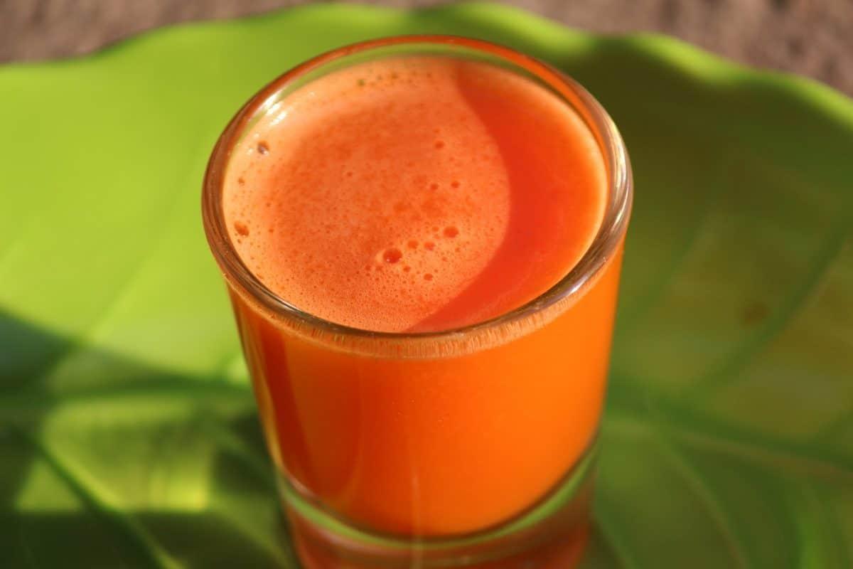 Karotten-Wassermelonen-Saft