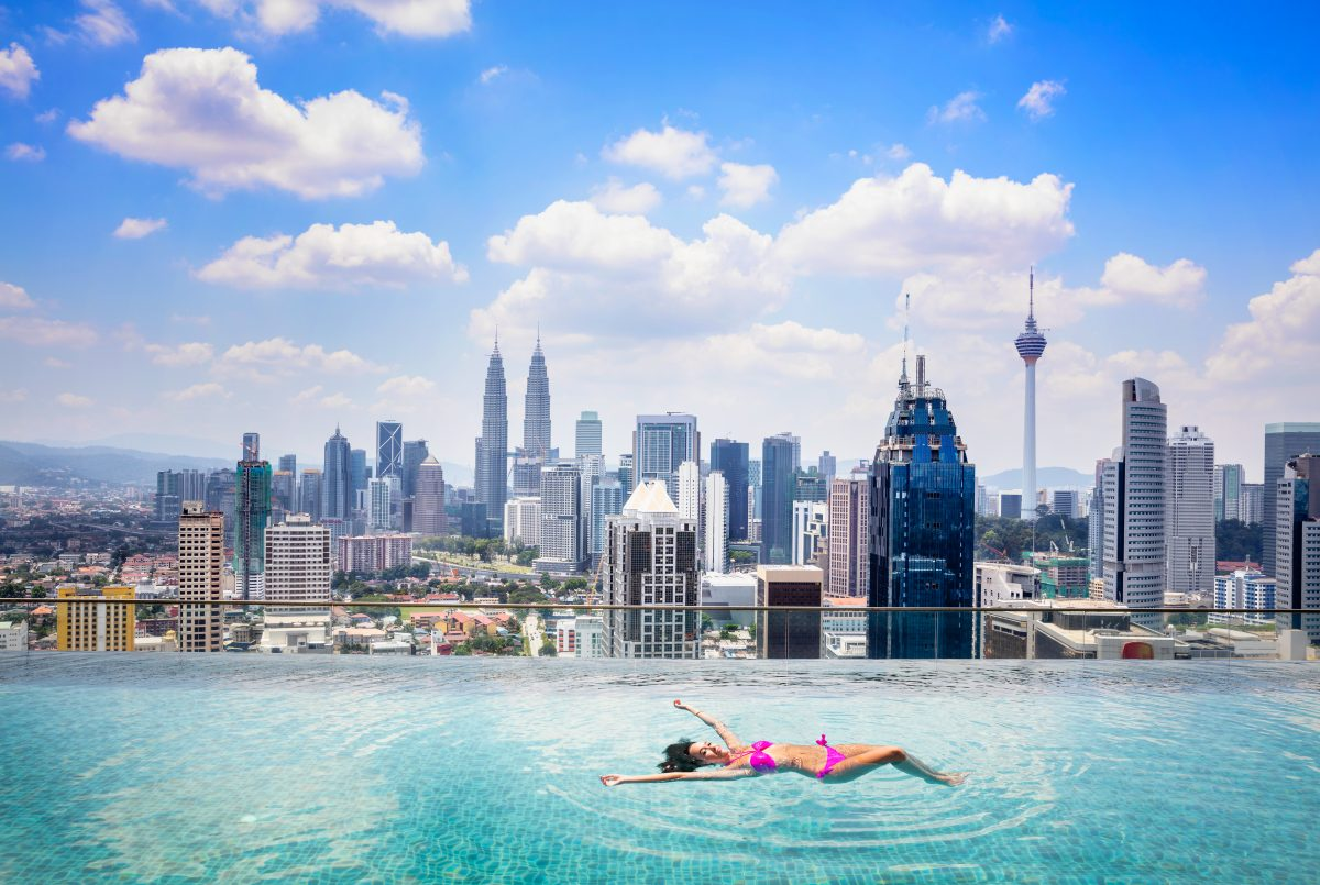 Erster Infinity-Pool mit 360 Grad Ausblick über London geplant