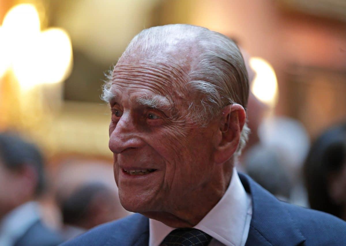 Prinz Harry kommt zur Beerdigung von Prinz Philip am 17. April