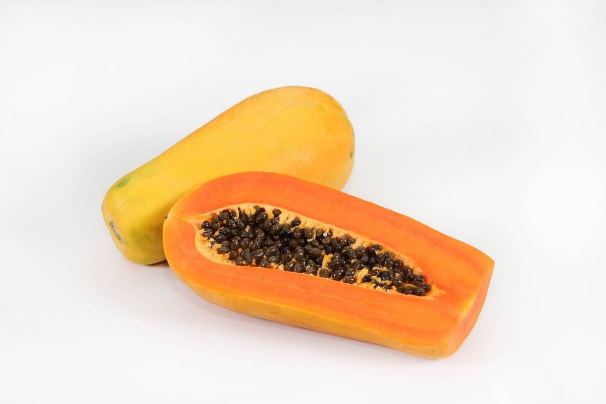 Gebackene süße Papayas