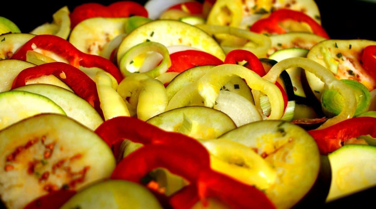 Ratatouille vom gegrillten Gemüse