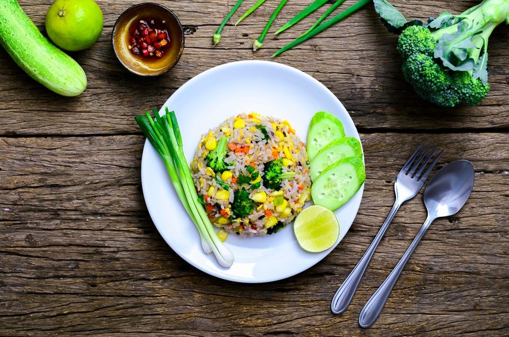 Brokkoli-Risotto mit Mais
