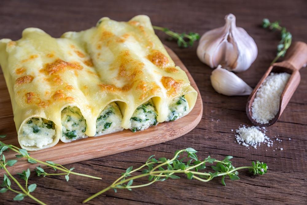 Cannelloni mit Ricotta-Spinat-Füllung