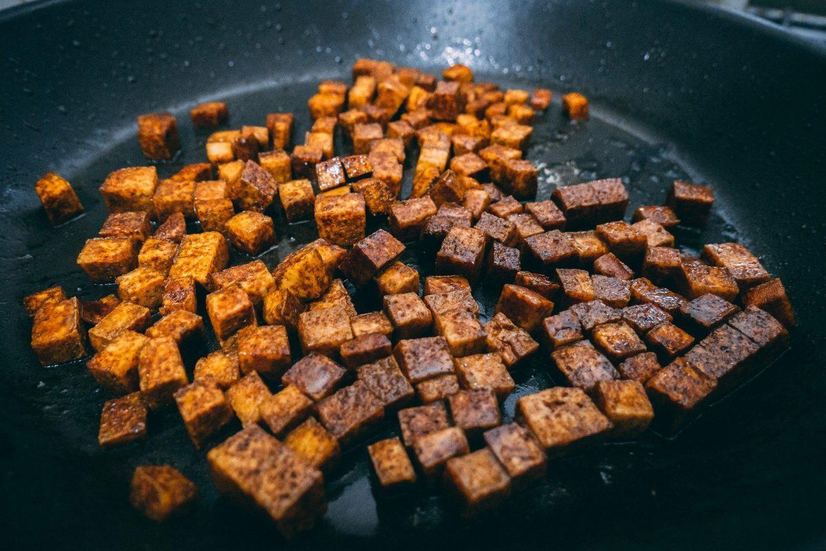 Tofu-Dinkel-Pfanne