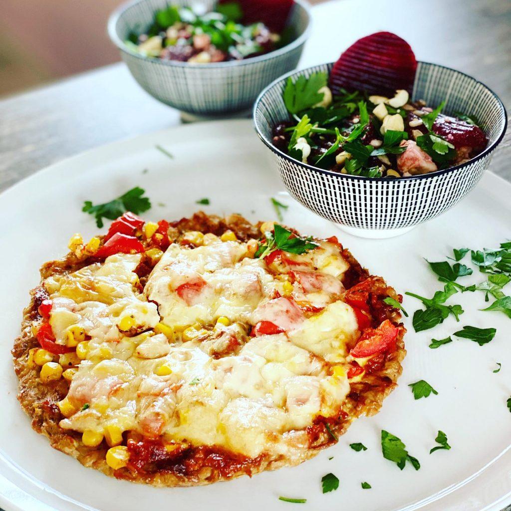Pizza Tonno (mit Dinkelvollkornteig)