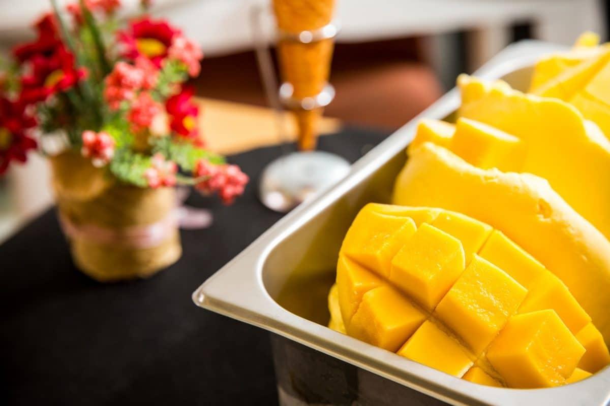 Erfrischendes Mango Sorbet
