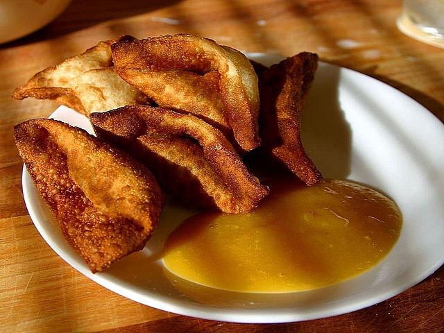 Frittierte Wonton-Täschchen