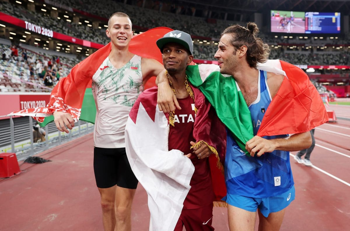 Bester Moment bei Olympia: Hochspringer aus Katar und Italien teilen Goldmedaille