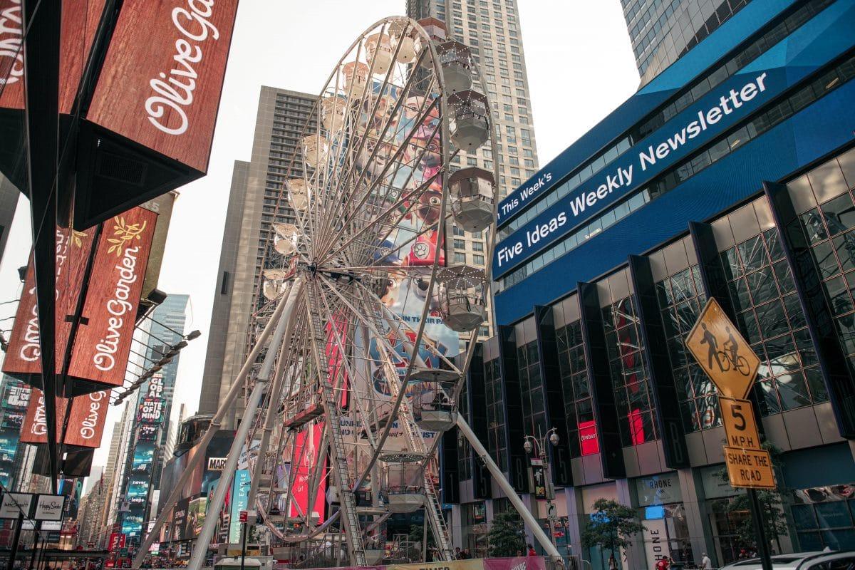 """""""Times Square Weel"""": Auch New York hat jetzt ein eigenes Riesenrad"""