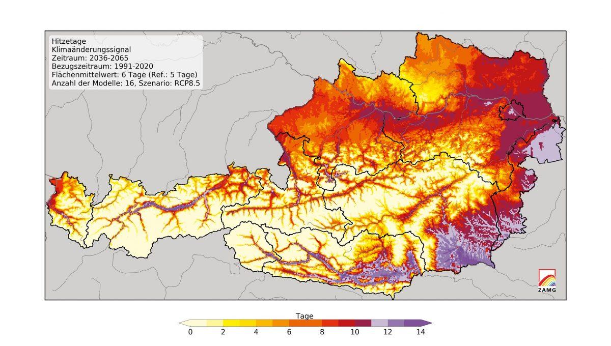 Klimawandel-Folgen: Bis 2100 wird es in Österreich fünf Grad wärmer